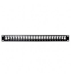 1U Blank Patch Panel with 24 Ports